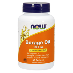 NOW Borage Oil, 1000 мг, капсулы, 60 шт.