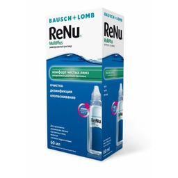 ReNu Multi Plus, раствор для обработки и хранения мягких контактных линз, 60 мл, 1 шт.