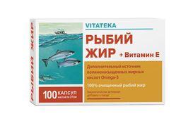 Витатека Рыбий жир с витамином Е, 0.37 г, капсулы, 1 шт.