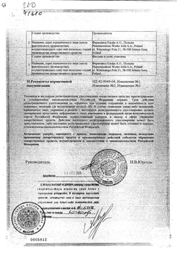 Гидрокортизон (глазная мазь) сертификат