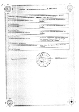 Авелокс сертификат