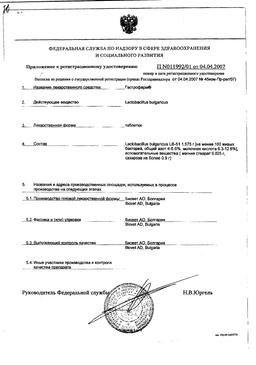 Гастрофарм сертификат