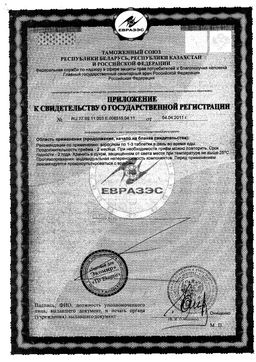 Лютеин-комплекс сертификат