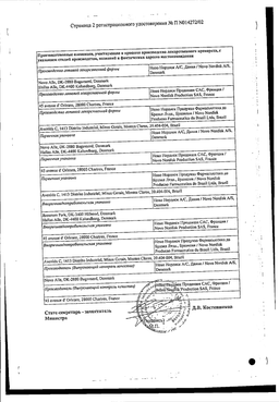 Актрапид HM сертификат