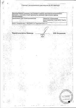 Индапамид ретард сертификат