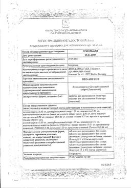 Нео-Ангин сертификат