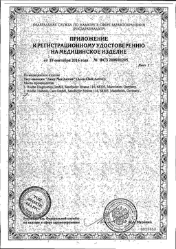 Accu-Chek Active Тест-полоски сертификат