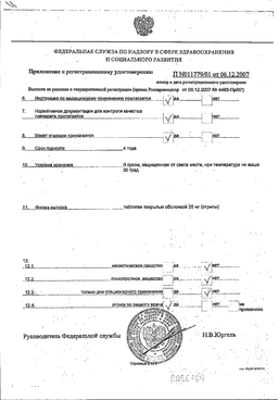 Клофранил сертификат