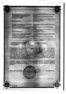 Цетиризин ДС сертификат