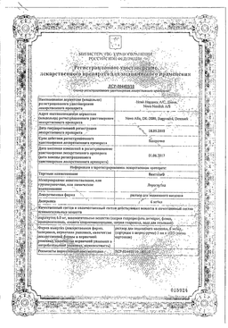 Виктоза сертификат