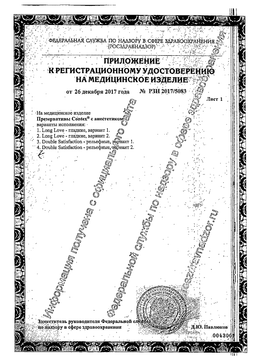 Презервативы Contex Long Love сертификат