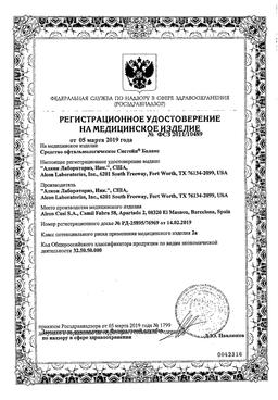 Систейн Баланс сертификат