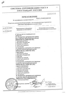 Тонометр полуавтоматический OMRON M1 Compact сертификат