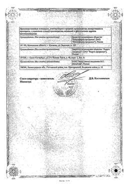 Лозартан Канон сертификат