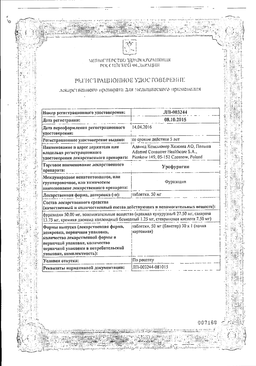 Урофурагин сертификат