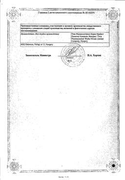 Периндоприл-Тева сертификат