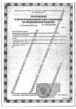 Риностоп Аква Софт сертификат