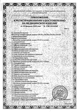 Ингалятор компрессорный AND CN-234 сертификат
