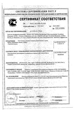 Diacont тест-полоски сертификат
