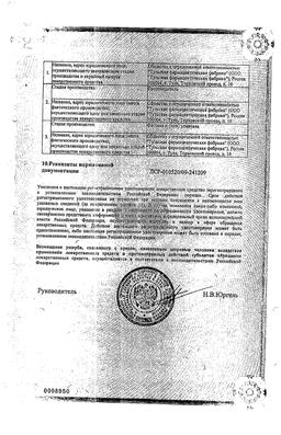 Борная кислота сертификат
