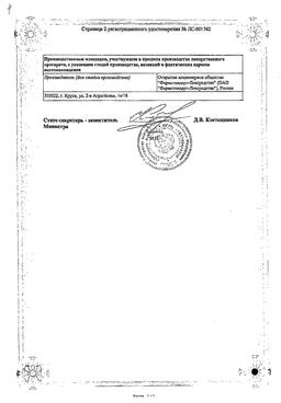 Глюкоза (таблетки) сертификат