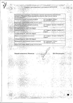 Фенкарол (для инъекций) сертификат