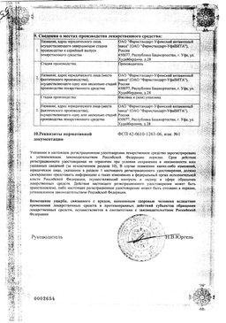 Ундевит сертификат