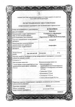 Лоцерил сертификат