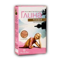 Глина косметическая розовая, порошок для приготовления суспензии для наружного применения, 100 г, 1шт.