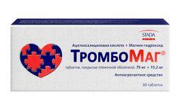 ТромбоМаг, 75 мг+15.2 мг, таблетки, покрытые пленочной оболочкой, 30шт.