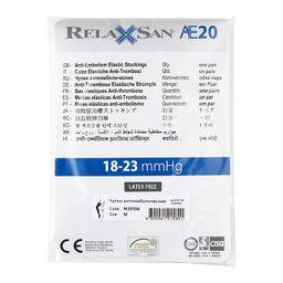 Relaxsan Anti-Embolism Чулки антиэмболические 1 класс компрессии, р. 2(М), арт. M2370А (18-23 mm Hg), с открытым мыском, белые, пара, 1 шт.