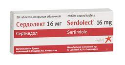 Сердолект, 16 мг, таблетки, покрытые оболочкой, 28 шт.