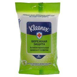 Kleenex Салфетки влажные антибактериальные, салфетки влажные, 10 шт.