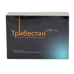 Трибестан, 250 мг, таблетки, покрытые пленочной оболочкой, 180 шт.