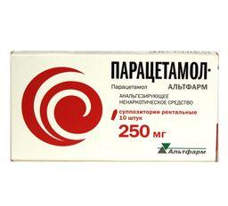 Парацетамол-Альтфарм, 250 мг, суппозитории ректальные, 10 шт.