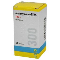Аллопуринол-Эгис, 300 мг, таблетки, 30шт.