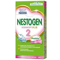 Nestogen 2 Комфорт Plus, для детей с 6 месяцев, смесь молочная сухая, с пребиотиками и пробиотиками, 350 г, 1шт.