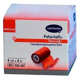 Бинт самофиксирующийся Peha-haft, 4смх4м, красного цвета, 1 шт.
