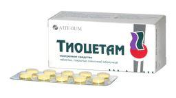 Тиоцетам, таблетки, покрытые пленочной оболочкой, 60 шт.