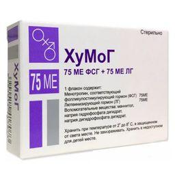 ХуМоГ, 75МЕФСГ+75МЕЛГ, лиофилизат для приготовления раствора для внутримышечного введения, 1, 1шт.