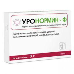 Уронормин-Ф, 3 г, порошок для приготовления раствора для приема внутрь, 1шт.
