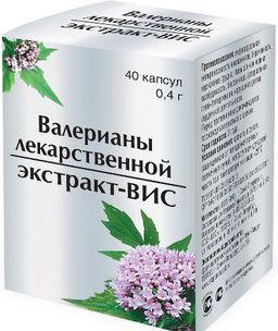 Валерианы лекарственной экстракт - ВИС, 0.4 г, капсулы, 40 шт.