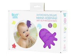 Roxy-kids Антискользящие мини-коврики для ванны, 12шт.