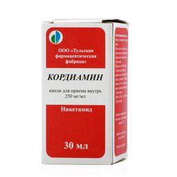 Кордиамин, 250 мг/мл, капли для приема внутрь, 30 мл, 1шт.