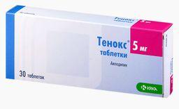 Тенокс, 5 мг, таблетки, 30 шт.