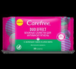 Carefree Duo effect Салфетки влажные для интимной гигиены