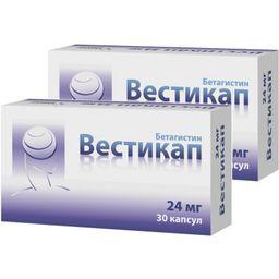 Вестикап, 24 мг, капсулы, комбиупаковка 1+1, 30шт.