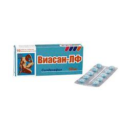 Виасан-ЛФ, 50 мг, таблетки, покрытые пленочной оболочкой, 10 шт.