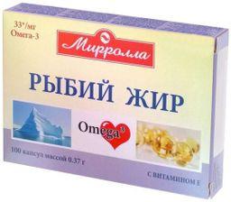Mirrolla Рыбий жир с витамином Е, капсулы, 100шт.