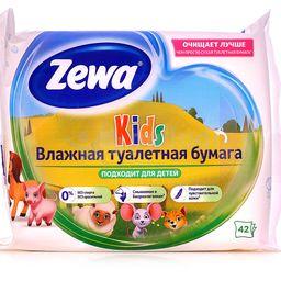 Zewa влажная туалетная бумага детская